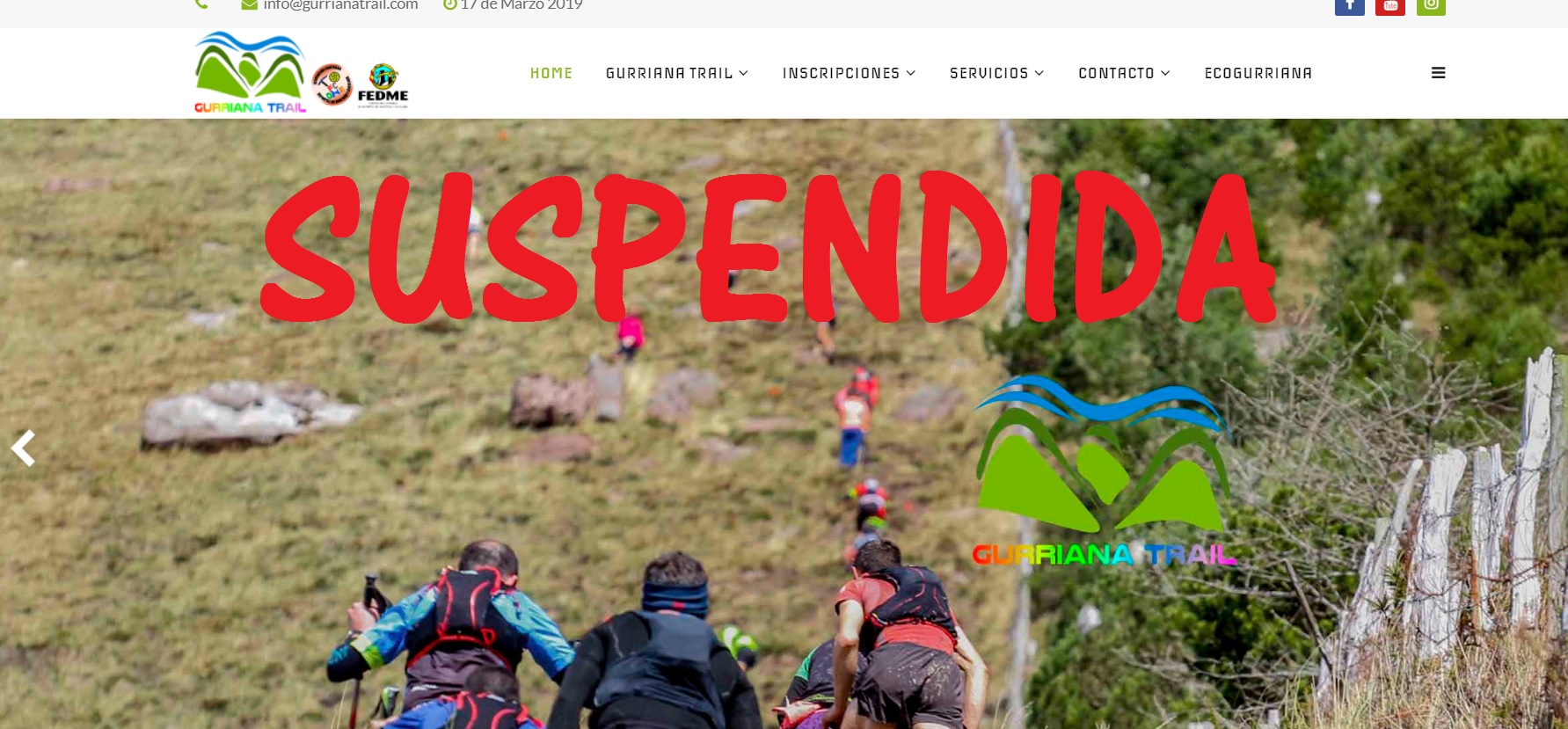 SUSPENDIDA LA GURRIANA TRAIL